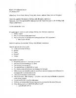 January 25 2017 Board Minutes